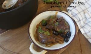 Joues de porc à l'Irouléguy, fenouil et olives