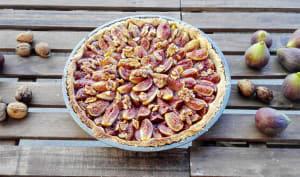 Tarte d'automne aux figues et noix fraîches
