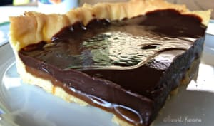 La tarte au chocolat et au caramel au beurre salé