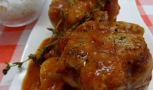 Paupiettes de veau à la sauce tomate aux oignons