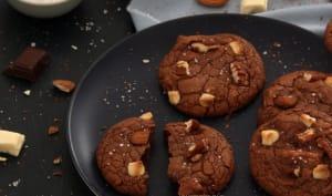 Cookies aux deux chocolats, amandes et noix de pécan