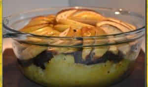 Parmentier de boudin aux deux pommes...