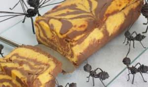 Gâteau marbré de butternut