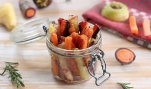 Frites de carottes multicolores