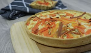 Tarte à la carotte et aux épluchures