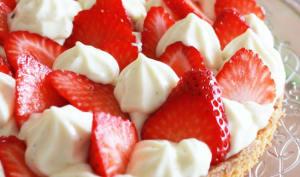 Tarte façon sablé breton crème vanille et fraises
