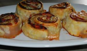Roulés aux jambon à l'os et aux jambon Corse-mozzarella-tomate