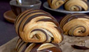 Le pain au chocolat bicolore au praliné