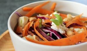 Salade de chou rouge, carotte et miel