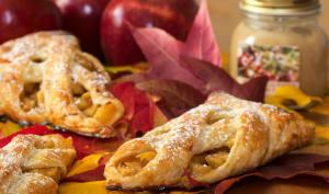 Feuilletés aux pommes, sirop d'érable et beurre de pomme