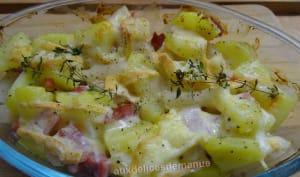 Gratin de pommes de terre et salsifis