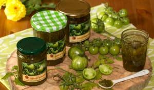 Confiture de tomates vertes aux épices de Noël et au Yuzu