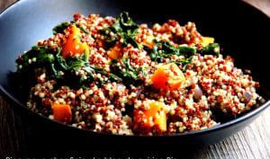 Quinoa épinards et patate douce