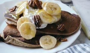 Pancakes banane et sarrasin