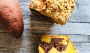 Crumb-cake marbré aux patates douces