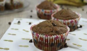 Muffins à la peau de banane et pépites de chocolat