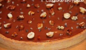 Tarte caramel et fruits secs de Christophe Adam