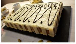 Gâteau carré douceur chocolat pistache
