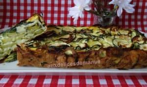 Gâteau invisible aux courgettes et fromage de chèvre frais