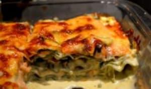 Lasagne épinards au saumon à la crème