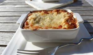 Gratin de ravioles du Dauphiné, sauce gorgonzola au mascarpone et noix
