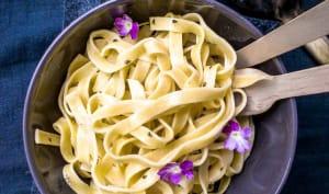 Tagliatelles au citron et crème de romarin