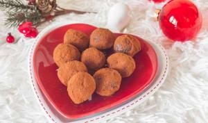 Truffes crème de châtaignes et chocolat
