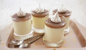 Panna cotta à la crème de marrons façon Mont-Blanc