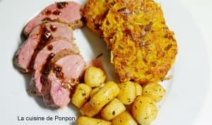 Galette de carottes et pommes de terre