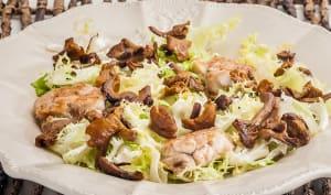 Salade de ris de veau aux girolles