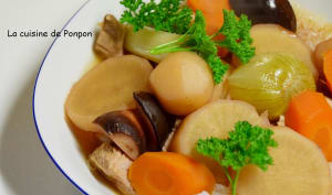 Filet mignon aux légumes et vermicelles de riz