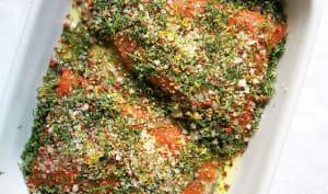 Gravlax de saumon et sa sauce à la moutarde