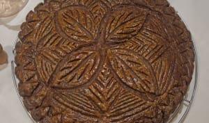 Galette chocolat et frangipane pralinée