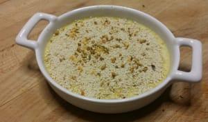 Crème brûlée mascarpone au fenouil et curry.