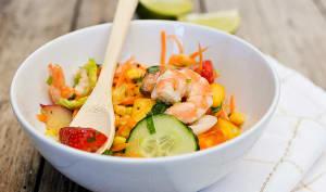 Salade thaï maïs et crevettes