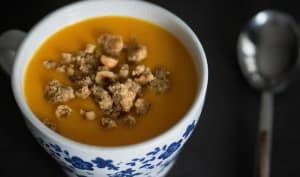 Soupe de butternut aux épices et zeste d'orange