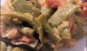 Haricots plats aux tomates