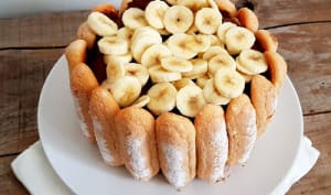 Charlotte chocolat et bananes