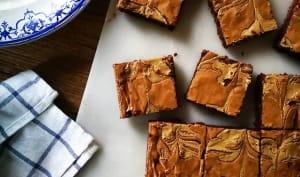 Brownie marbré au tahini