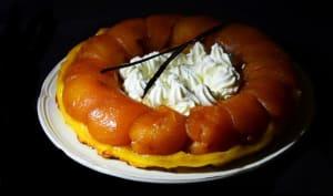 Tarte tatin de pommes crème fouettée à la vanille