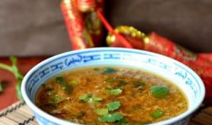 Soupe de boeuf à la coriandre fraîche
