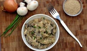 Quinoa façon risotto aux champignons et poulet