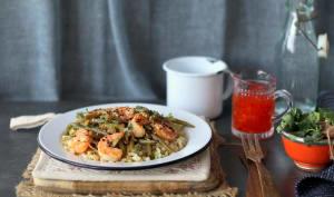 Crevettes sauce chili