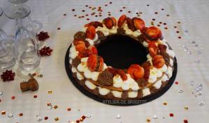 Circle cake, namelaka chocolat épicé, orange et oranges sanguines