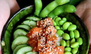Chirashi au saumon frais mariné
