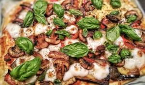 Pizzas veganes variées en 7 garnitures