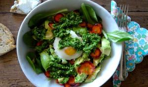 Salade au pesto de Kale
