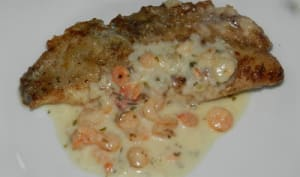 Cabillaud sauce aux crevettes