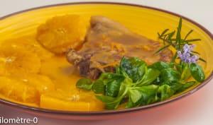 Côte de veau à l'orange