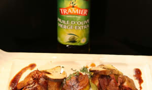Pigeon de Bresse rôti, cèpes et foie gras de canard